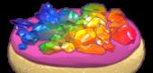 Rainbow Rock Candy Cookies