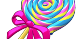 Rainbow Swirl Lollipop