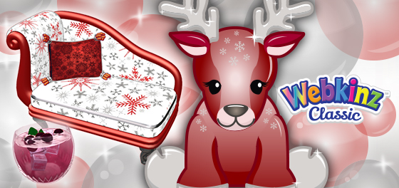This Red Reindeer arrives in Webkinz World in time for the Holidays!