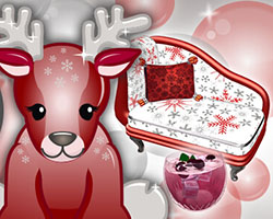 Red Holiday Reindeer
