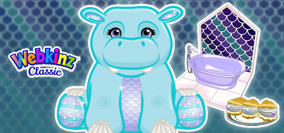 The Mermazing Hippo arrives in Webkinz World January 1, 2021!