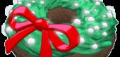 Festive Wreath Donut