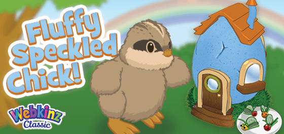 The Fluffy Speckled Chick arrives in Webkinz World!