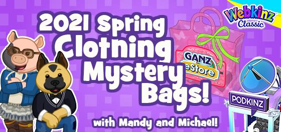 Webkinz Podkinz Minis: Webkinz Classic 2021 Spring Clothing Mystery Bags!