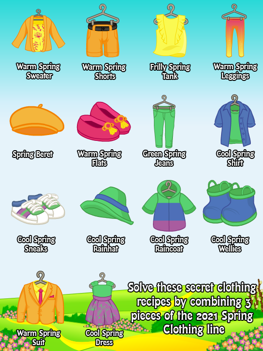 Spring 2021 clothing