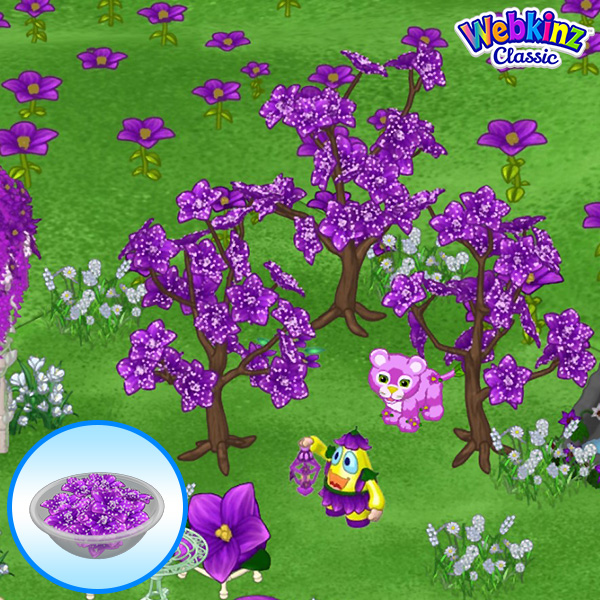 Webkinz Candy Tree, Sugared Violet Candy Tree, Purple Violet Tile