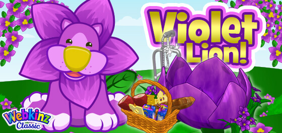 The Violet Lion arrives in Webkinz World May 1, 2021!