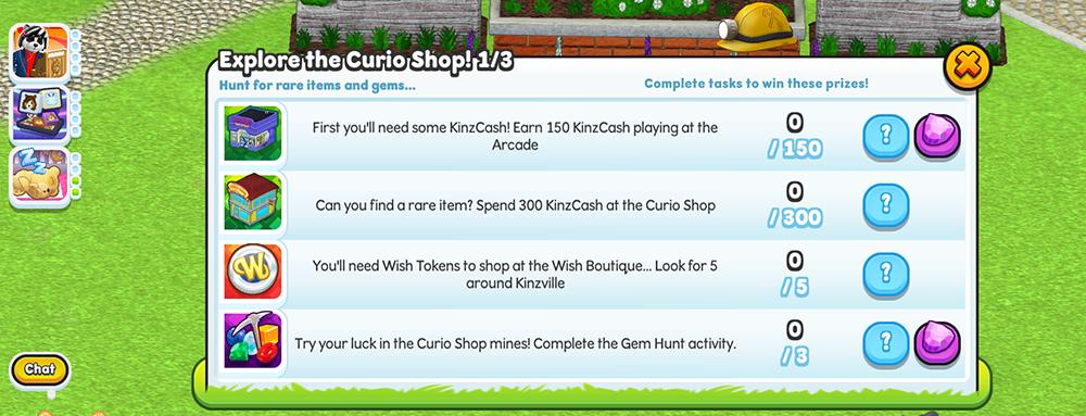 curio shop challenge