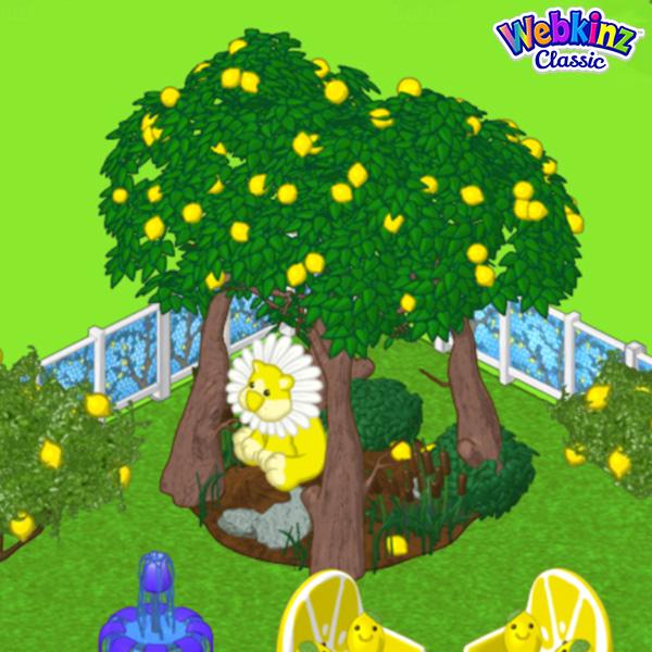 Webkinz Kinz Cottage, Lemon Drop Grove, Lemon Mosaic Tile