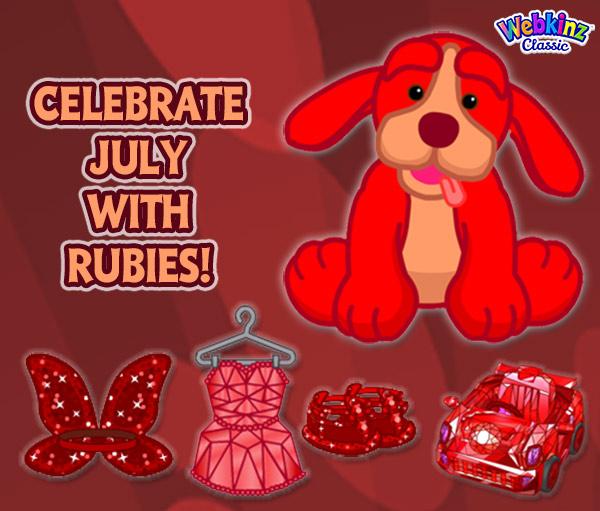 Webkinz Birthstone Pet, Ruby Retriever