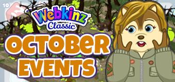 Webkinz Classic Event Calendar - October, 2021