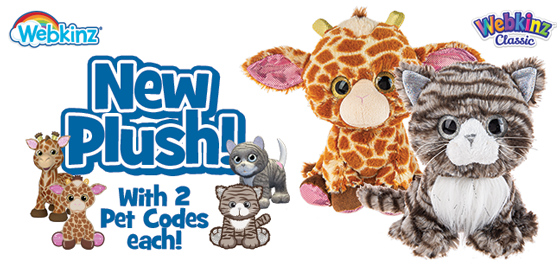 TWO New Plush! TWO Pet Codes Each!